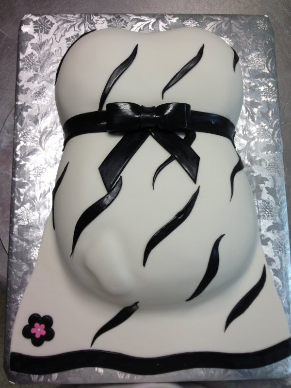 Zebra Belly Cake