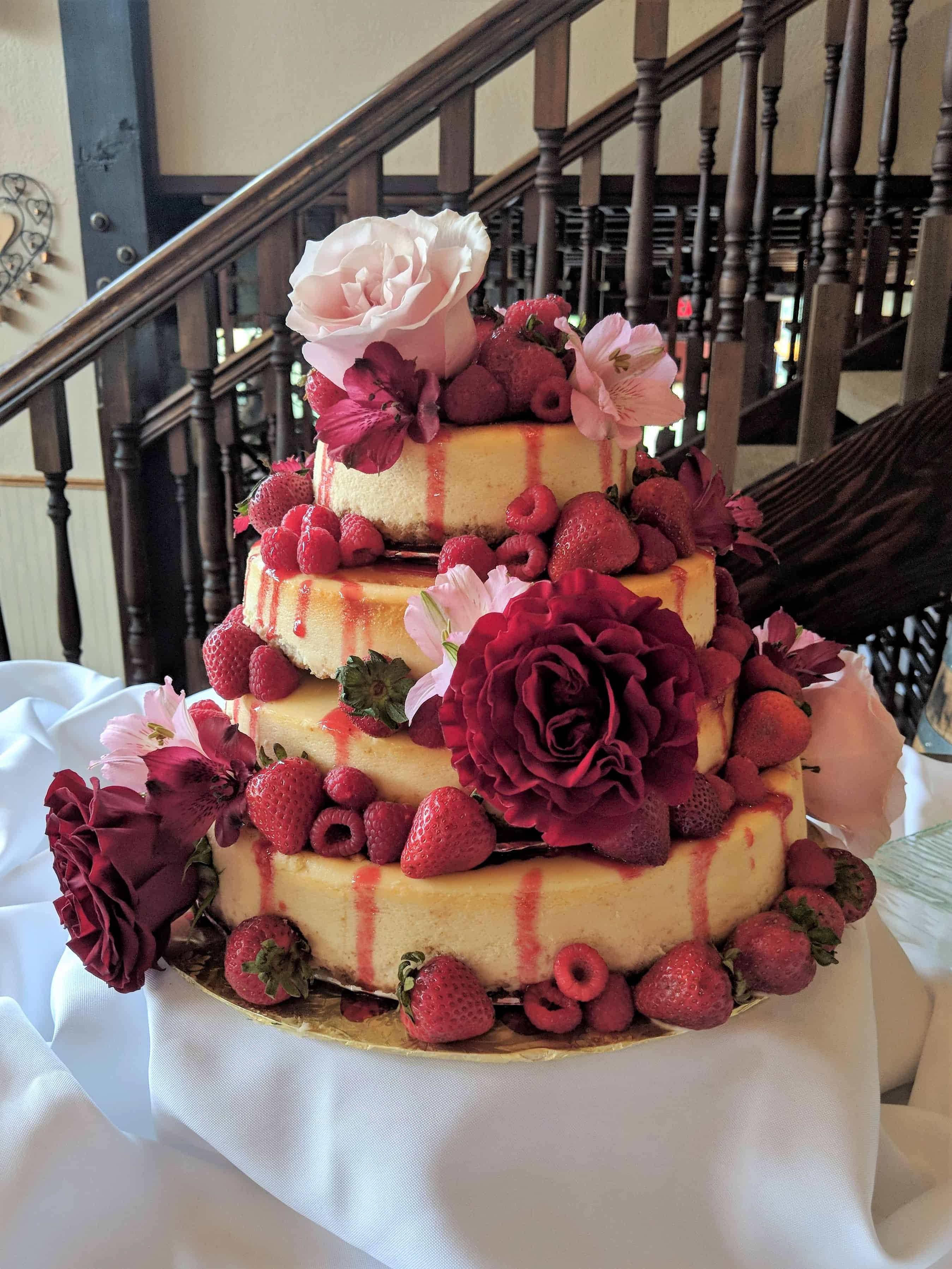 Cheesecake Tiered Wedding Cake
