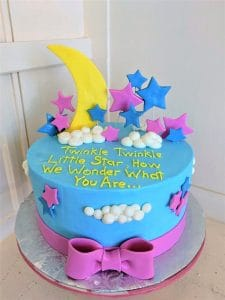 Twinkle Twinkle Little Star Baby Gender Reveal Cake